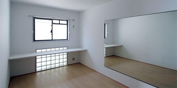 神戸西大池の家 ローコストでシンプルなデザインリフォーム ダンスが練習できる部屋
