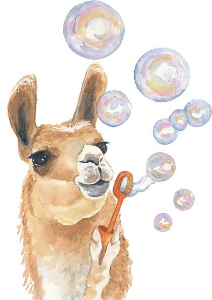 Llama blowing bubbles LOL Peru VBS 2017