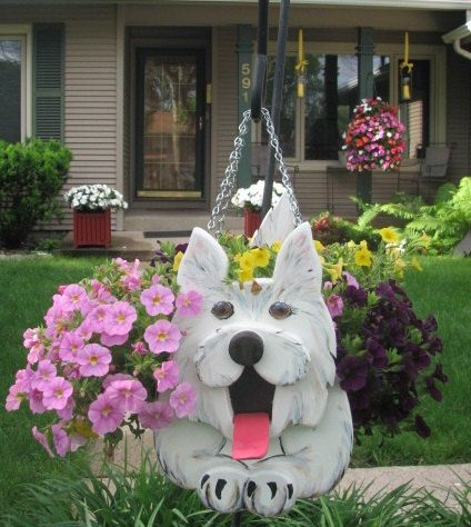Westie  Dog Planter by MyCountryHaven on Etsy, $65.00