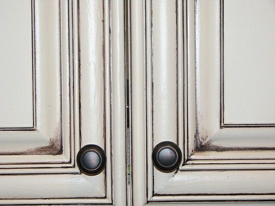 25 best ideas about glazing cabinets on pinterest glazed kitchen cabinets distressed - Antique white cabinets with black glaze ...