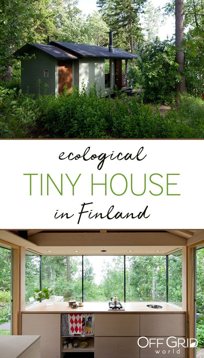 Tiny Cottage In Finland Is An Ecological Urban Retreat Off Grid