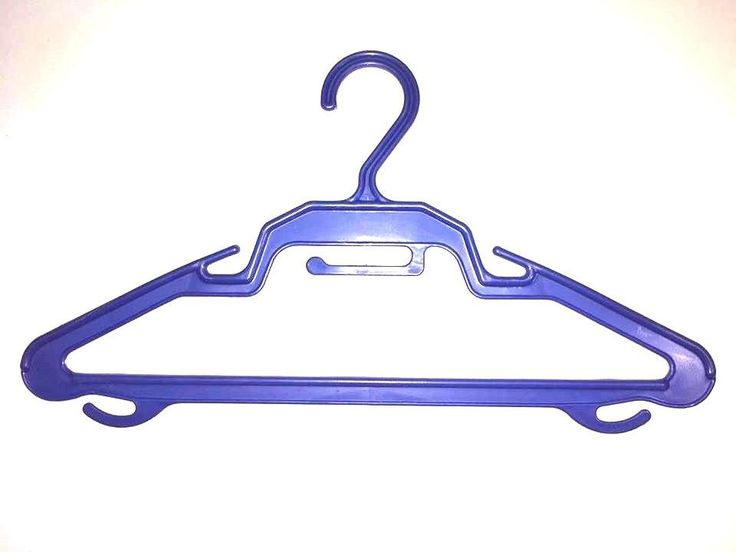 25 Hanger For clothes Pants Bleu Red Plastic Free Shipping Hangers for kids #Unbranded