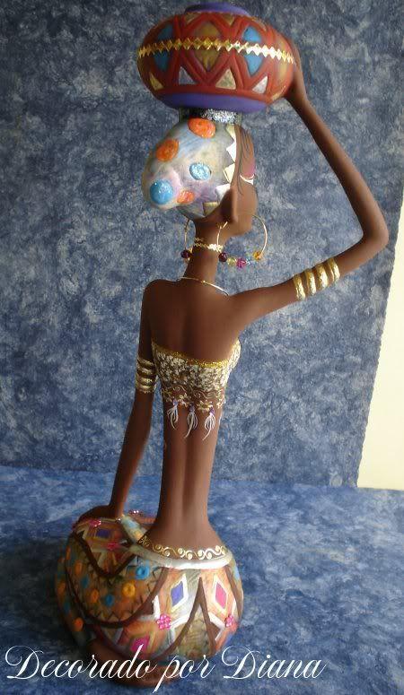 Manualidades Diana: Africanas en cerámica