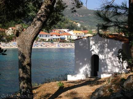 Pittoresk Parga op het vasteland van Griekenland. Pittoresk town of Parga in Epirus on the mainland of Greece.