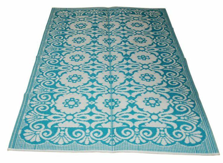 LEF collections Tappeti / moquette esterna in plastica, turchese, 180x270cm
