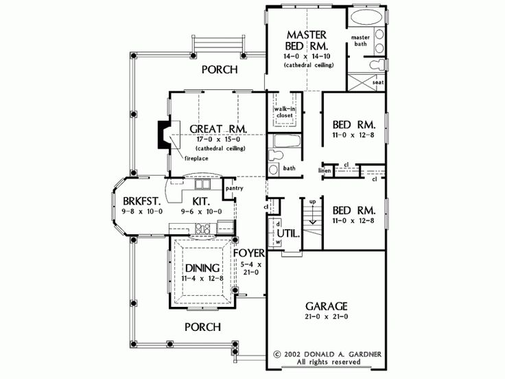 24 best houseplans 1700 1799 images on pinterest floor for Eplans floor plans