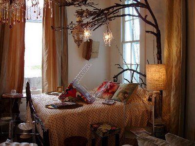 Dangling Fairy Lights Bedroom