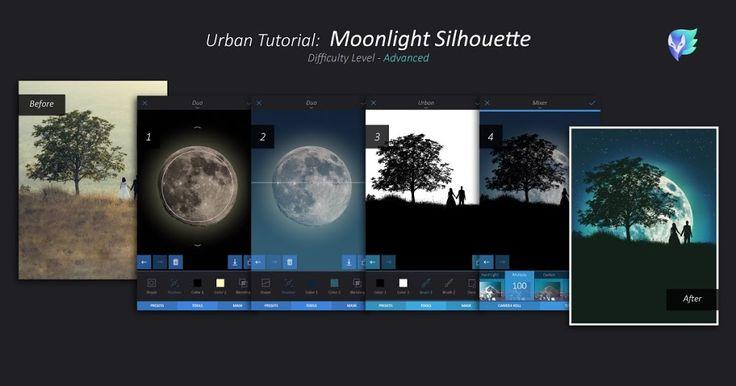 Moonlight Sillhouette Tutorial   Enlight Leak