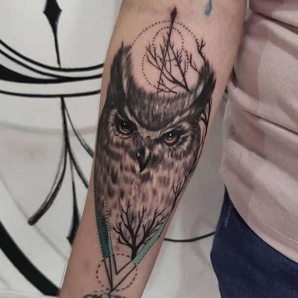 Tatuaż Sowy Znaczenie Historia 30 Zdjęć Pomysł Na