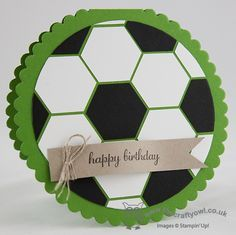 Great soccer card http://www.blog.thecraftyowl.co.uk/post/2013/11/17/Round-Hexagon-Football-Punch-Art-Card