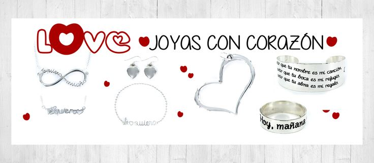 """Regala joyas de la Colección """"Love, Joyas con corazón"""". Pulseras, colgantes, anillos, pendientes y un brazalete muy especial. Cada pieza está llena de emociones, sentimientos, caricias, besos, abrazos... Mucho amor que entregar y un regalo para recordar❤ """"Love, Joyas con corazón"""" http://www.elpalaciodelaplata.com/catalogo/buscar?find=lovemarcas."""