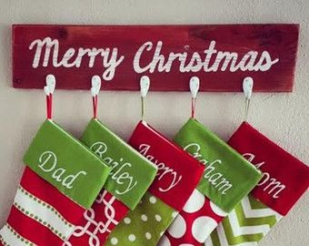 Rustic Christmas Stocking Hanger by BrandNewToMe on Etsy
