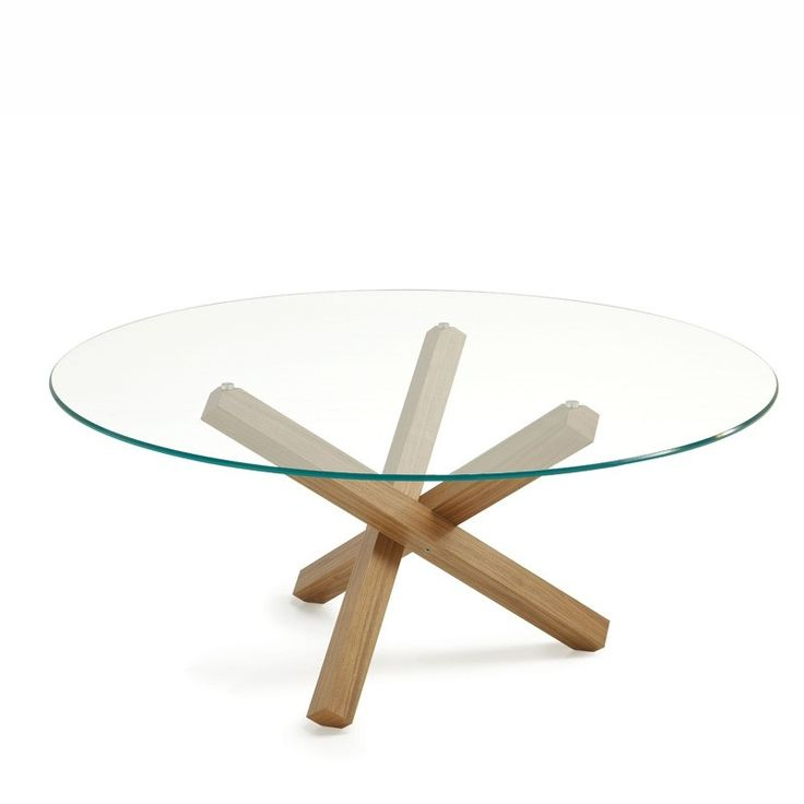 25+ best ideas about Table Ronde En Verre on Pinterest Table ronde en bois, Table bois et fer  # Table Ronde Jardin Bois