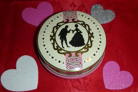 Romantic Silhouette Courtship Tin Litho by PopcornVintageByTann