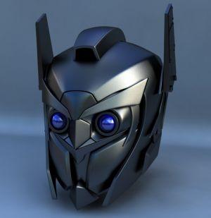 robot+head+metallic+helmet