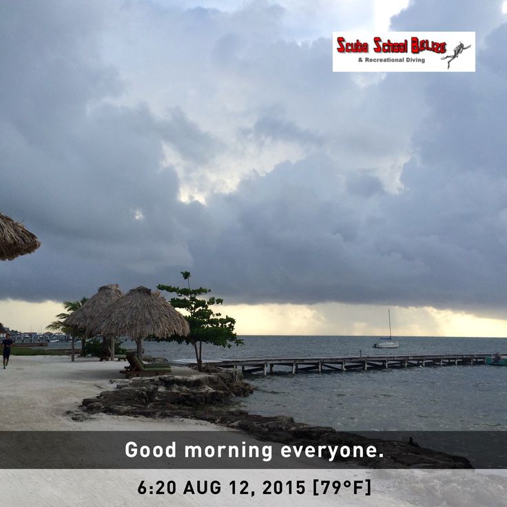 Good Morning. A Little Rain To Start The Day. #belize