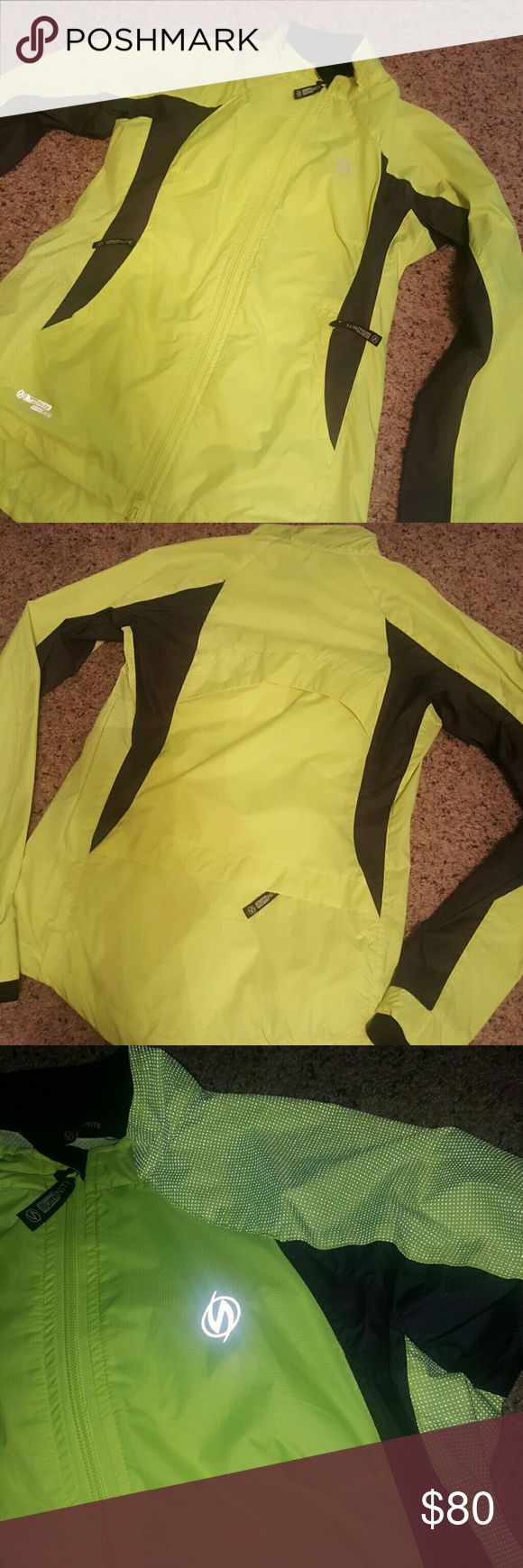 Women's illuminite reflective running jacket Women's running jacket, reflective and water resistant. Perfect for cold weather! Never worn, brand new. illuminite ILLUMINITE  Jackets & Coats Utility Jackets