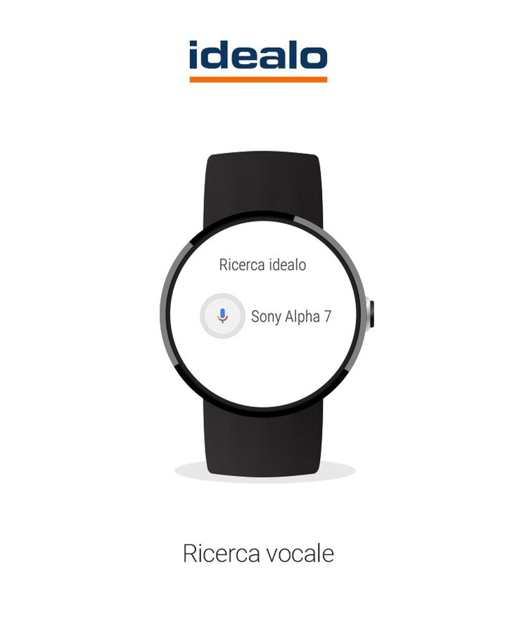 idealo | app per Android Wear: Ricerca vocale