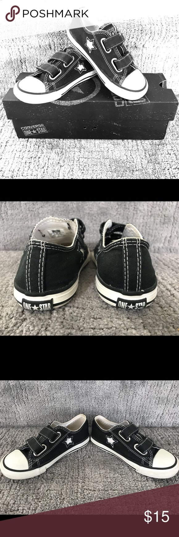 Infant/Toddler Black converse sneakers size 9 Excellent  used condition black infant/toddler black converse sneakers - size 9 Converse Shoes Sneakers