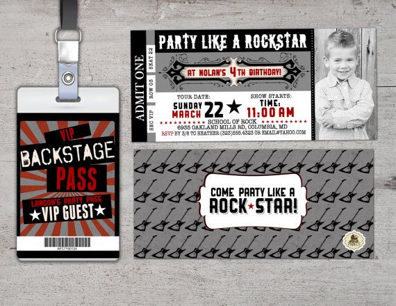97 best 50th images on Pinterest Birthdays, Birthday party ideas - concert ticket birthday invitations