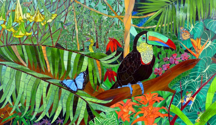 "The development of ""Rainforest"" was particularly interesting. It emerged  from my personal wish to create something colorful with many shades of  green."