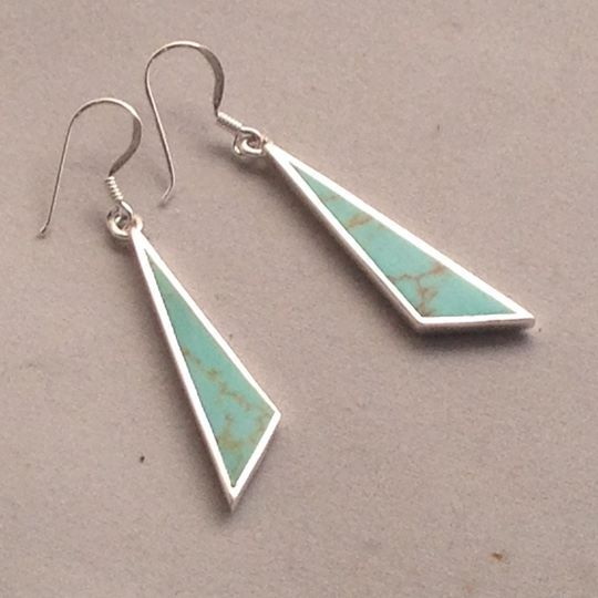 Absolutely gorgeous! These turquoise wedge earrings are one of our most recent creations! We absolutely love them and we're sure you will, too!