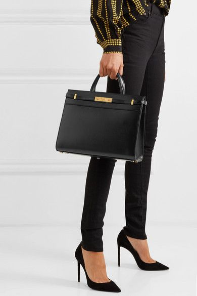 a3ed28a9e92 SAINT LAURENT - Manhattan small leather tote in 2019   My Style ...