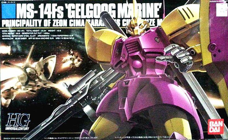 1PCS bandai HGUC 026 MS-Fs Gelgoog Marine Gundam Mobile Suit Assembly Model Kits Anime action figure lbx toys