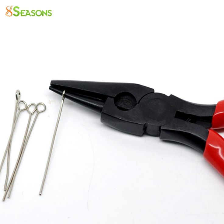 8SEASONS Hot Sale High Quality Red Round Nose and Concave Pliers Beading Jewelry Hand Tool (B08925) 12.5cm Long 8Seasons | E-BAYZON