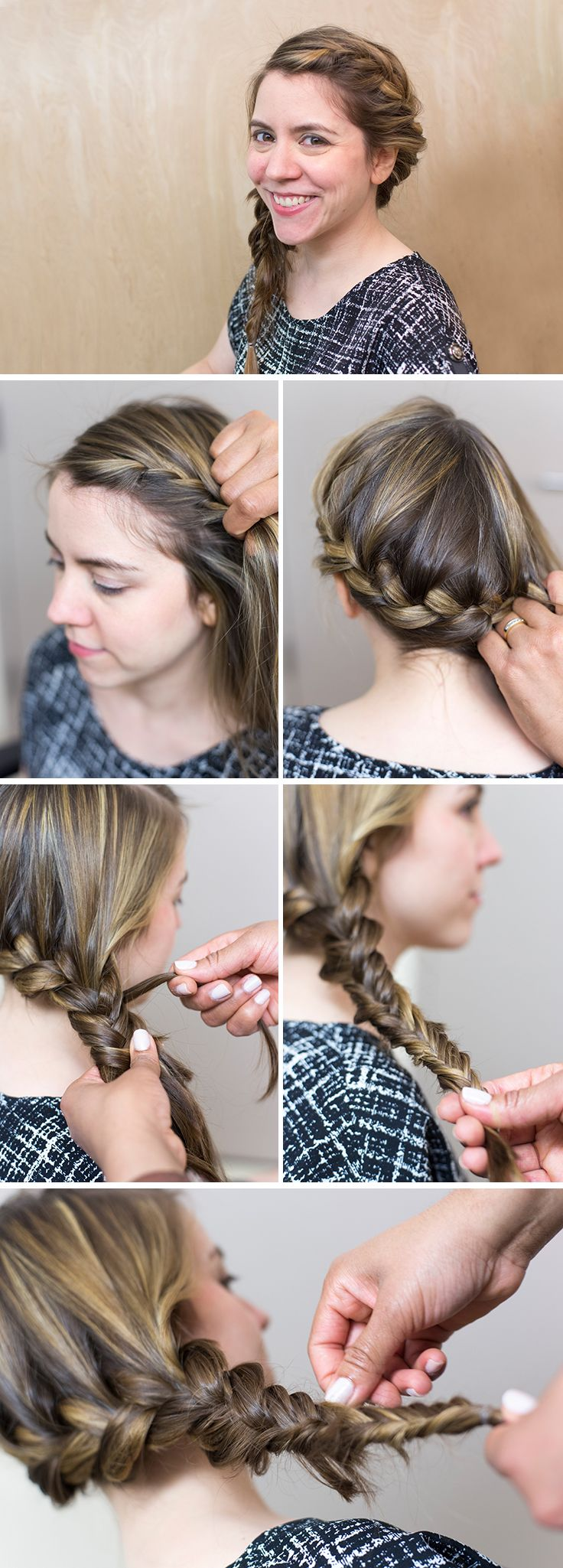 Get the look: a pretty, bohemian side fishtail braid for long hair. This style is perfect for everyday.