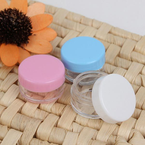 Colorful Empty #CosmeticJars #Eyeshadow Nail Decals Container #handmade #selfmade #spignatto