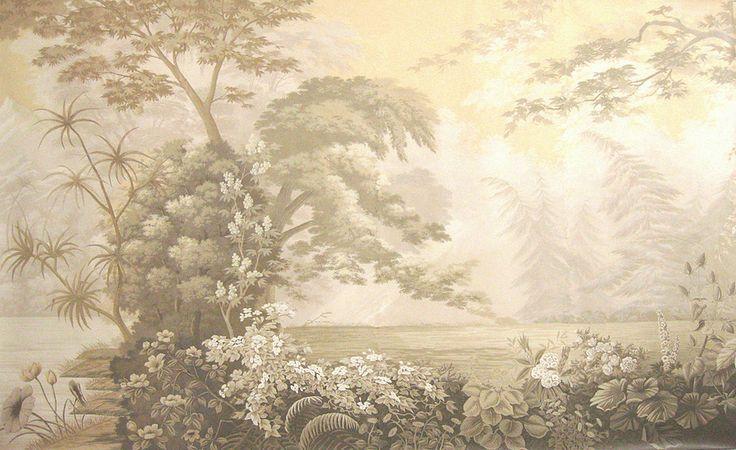 European Panoramic Hand Painted Wallpaper