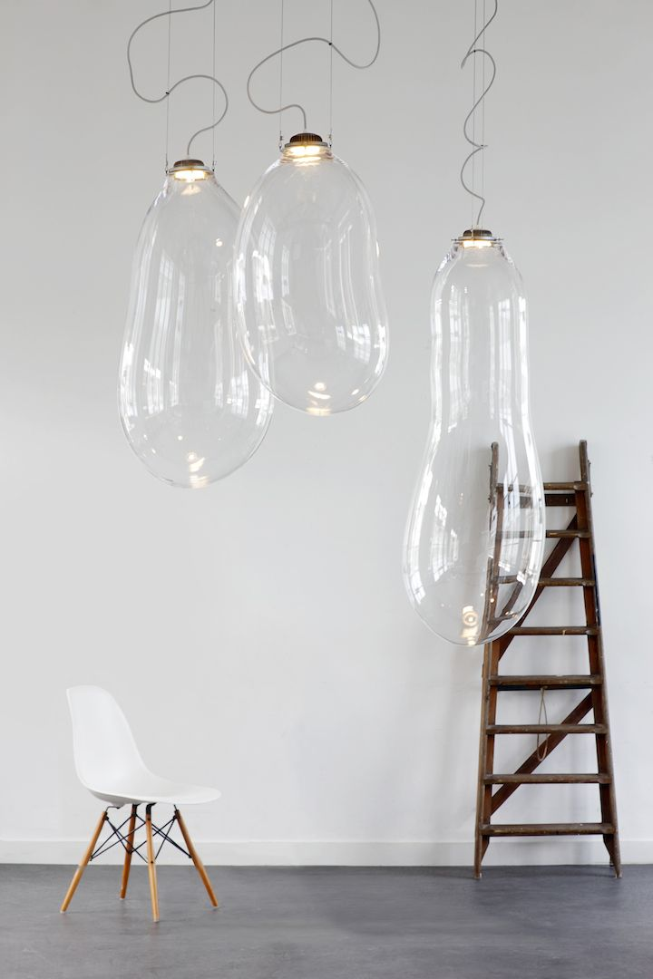 Schön #picoftheweek The Big Bubble, A Lamp Made Of Blown Glass, By Dutch Product