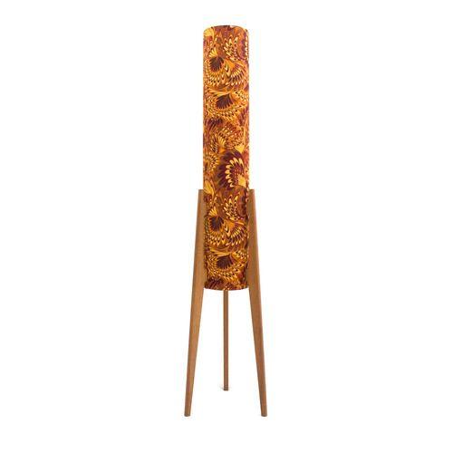 Orange Swirl Rocket Lamp  #midcentury #midcenturymodern #midcenturyfurniture #midcenturydesign #midcenturyhome #midcenturylamp #rocketlamp #lighting #officeofminordetails #byronbay