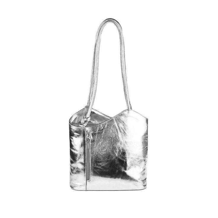 Photo of [Werbung] [Werbung]    ITAL Real LEATHER METALLIC WOMEN BAG BACKPACK Handbag Scarf …