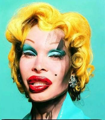 Amanda As Andy Warhol's Marilyn, 2002. David LaChapelle