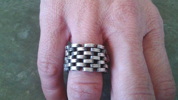 Oxidized silver  ring modular silver elements by Jewelartla