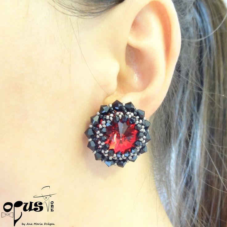 Set Bijuterii Red Black Emotion - Opus One - Accesorii, Bijuterii, Papioane Handmade