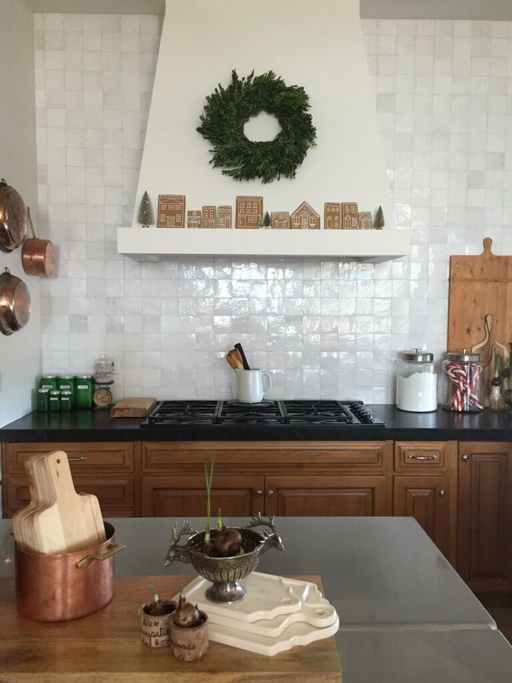 Tangier Zellige Kitchen Backsplash In Lavan By Tabarka