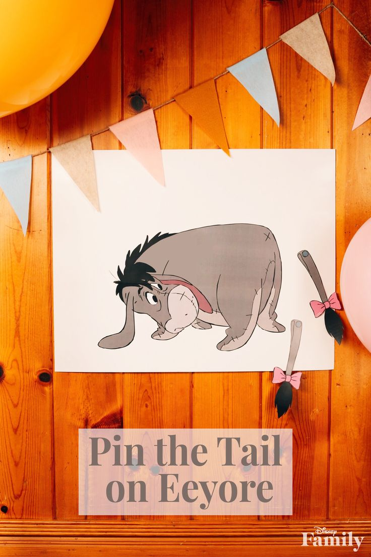 Looking for a fun, easy game to play at your Winnie the Pooh party? Look no further with Pin the Tail on Eeyore! Print out the free craft over at Disney Family.