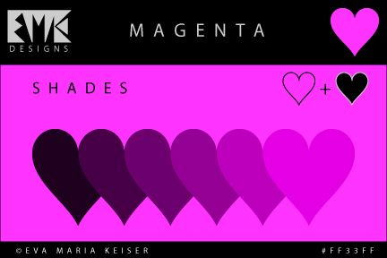 20 best images about explore color shades of magenta on