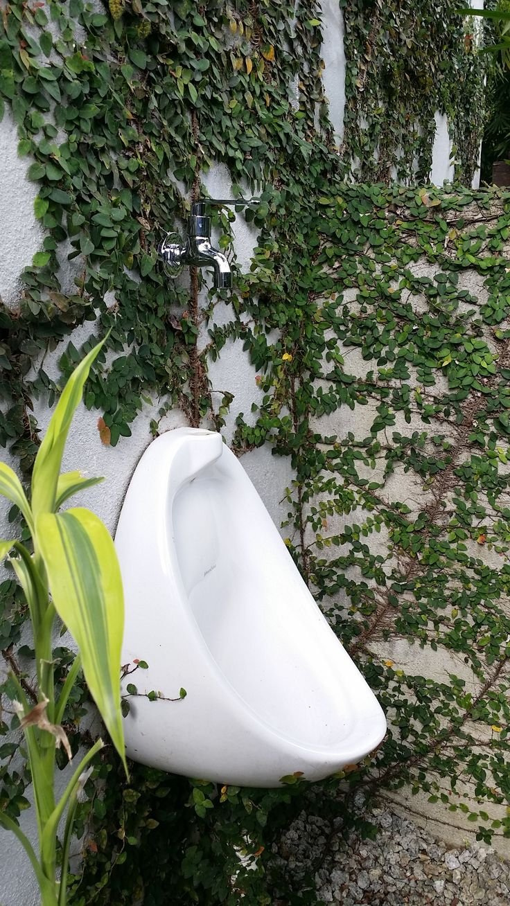 Outdoor Urinal With A Tap For Flushing Tanah Larwina In
