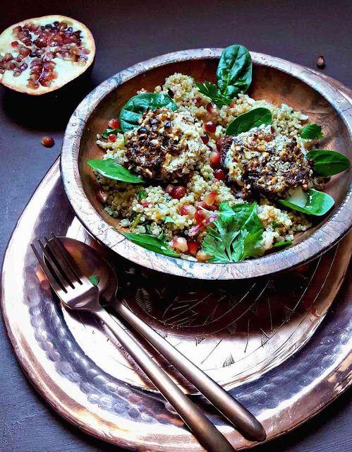 Very Easy...Kitchen: Cabecous panés aux noisettes, quinoa à la grenade