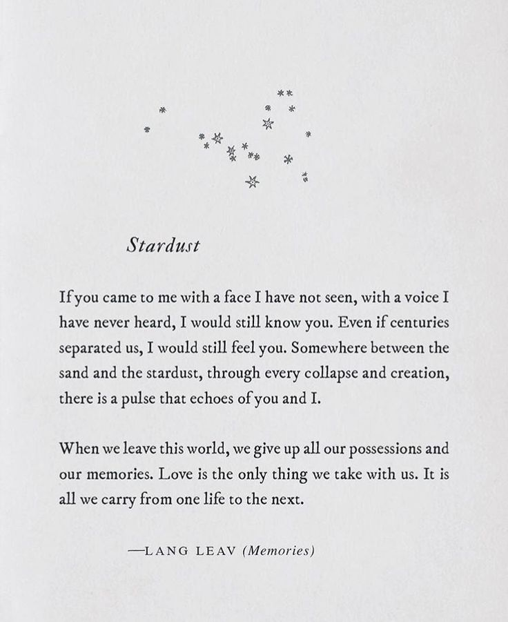 Stardust. [Lang Leav]