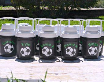Soccer Gifts / Soccer Mom / Sports Bottle / Personalized Water Bottle /  Coleman Water Bottle /  Kids Soccer / Custom Water Bottle