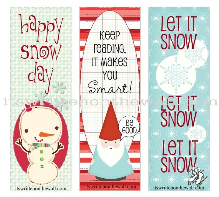 9 best Christmas bookmarks images on Pinterest