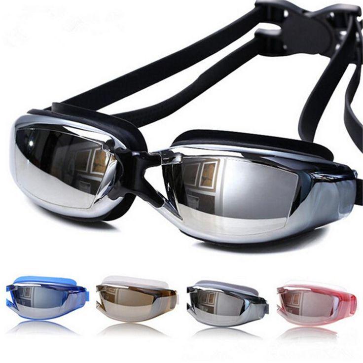 Galvanoplastia UV antivaho impermeable Swimwear natación agua buceo Gafas Gafas ajustables Gafas de natación mujeres hombres A020