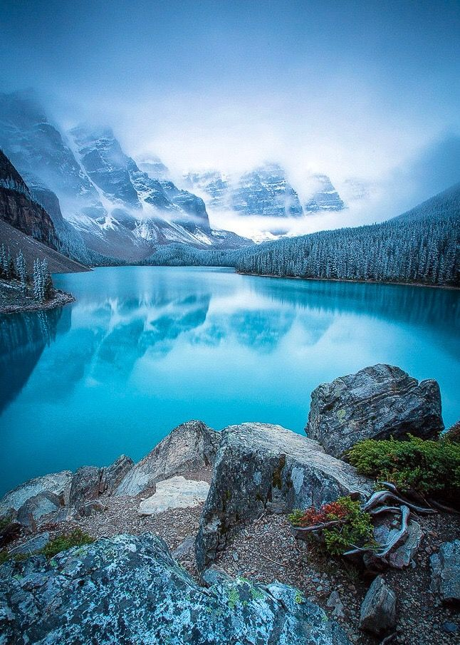Winter approaching Moraine Lake, Banff National Park by Dani Lefrancois