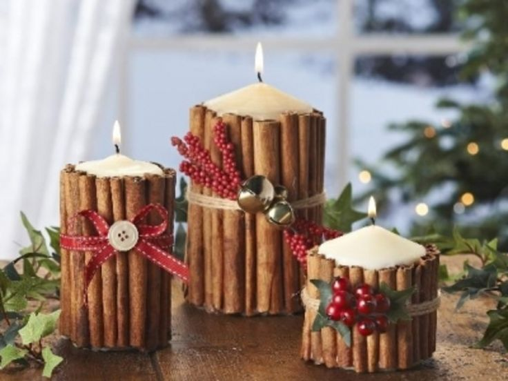 10+ #Gorgeous DIY Holiday #Candle Projects ... → DIY [ more at http://diy.allwomenstalk.com ]  #Candlestick #Hanger #Christmas #Cozy #Wire