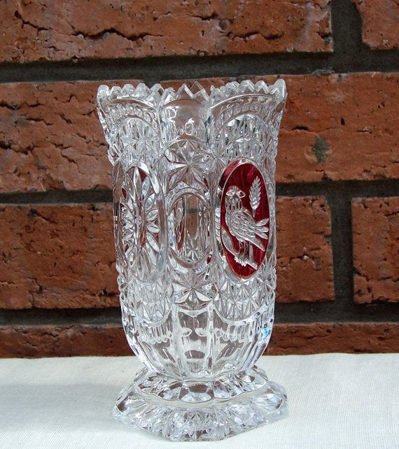 Vintage Hofbauer Byrdes Bird Ruby Flashed by thesecretcupboard, $36.00